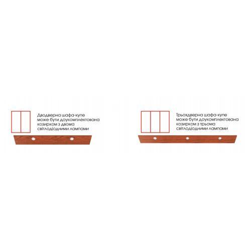 Серия карнизов с подстветкой для шкафов-купе БМФ