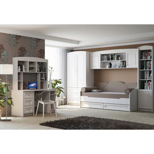 Детская стенка с кроватью, шкафом и столом Полонез