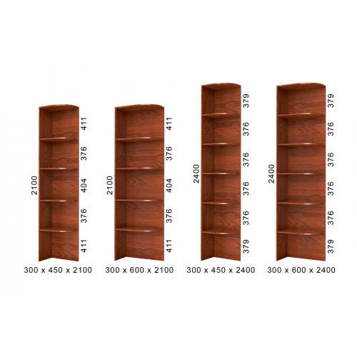 Серия стеллажей угловых приставок к шкафу-купе БМФ