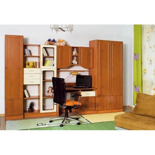 Детская стенка со столом и шкафом Юниор Дизайн МДФ