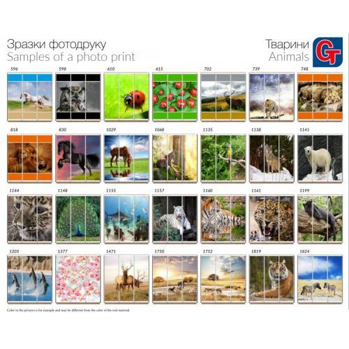 Фасады фотопечать Животные (3 двери)