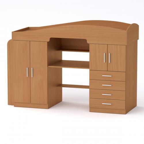 Кровать с столом и шкафом Универсал-2 Компанит