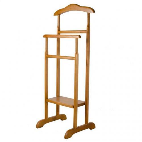 Вешалка напольная двойная деревянная Мебель для Всех
