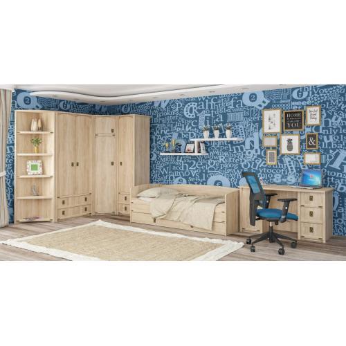 Детская стенка с кроватью, шкафом и столом Валенсия Мебель Сервис