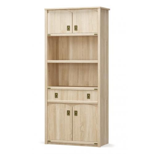 Шкаф книжный 4Д1Ш Валенсия Мебель Сервис