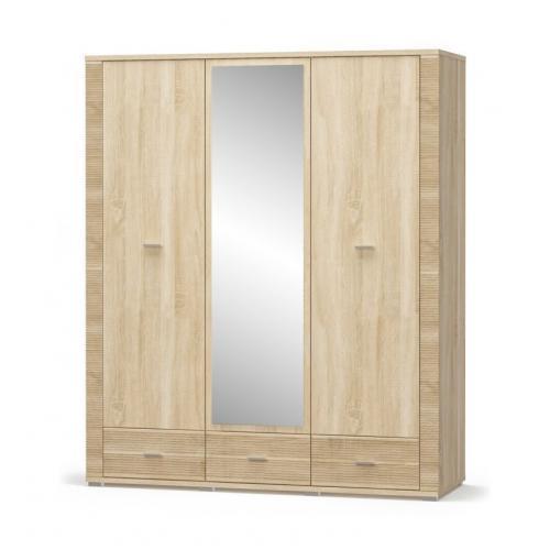 Шкаф 2Д/1Дз/3Ш Гресс Мебель Сервис