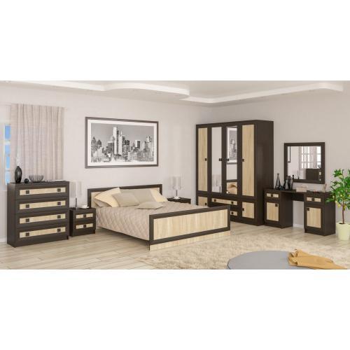 Модульная спальня Даллас Мебель Сервис (дуб сонома)