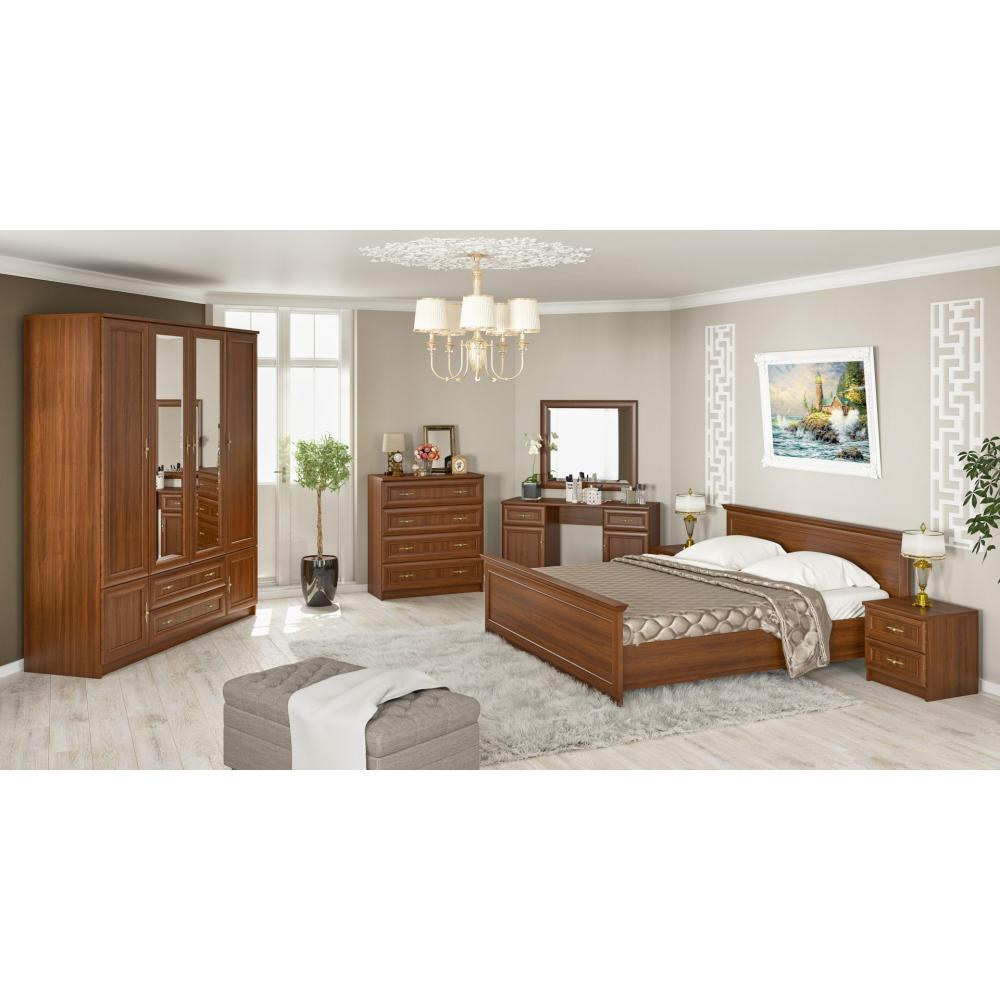 Модульная спальня Даллас Мебель Сервис (вишня портофино)