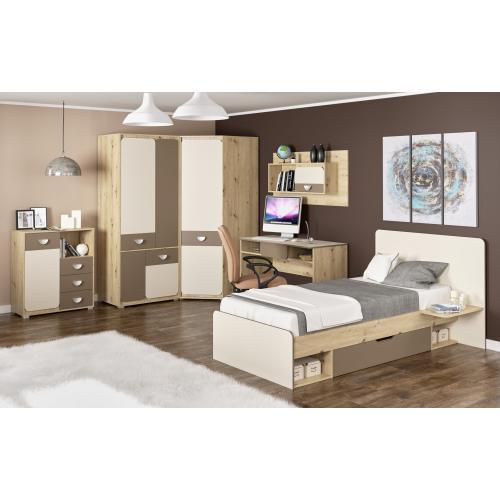 Детская стенка с кроватью, шкафом и столом Лами Мебель Сервис