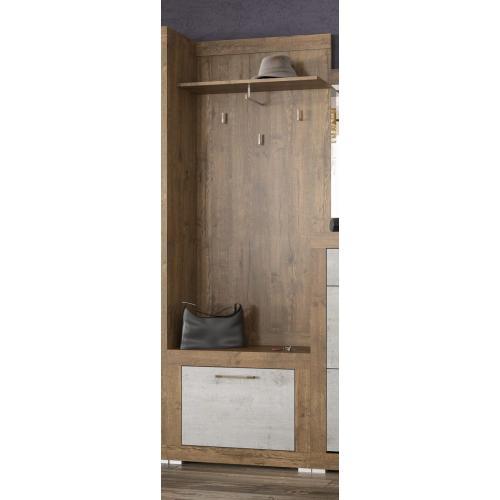 Вешалка 680 Парма Мебель сервис (бетон индастри)