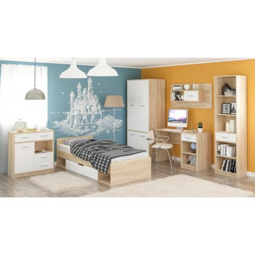 Детская стенка с кроватью, столом и шкафом Типс Мебель Сервис