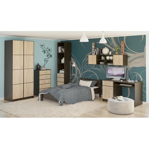 Детская стенка со столом, кроватью и шкафом Фантазия New Мебель Сервис