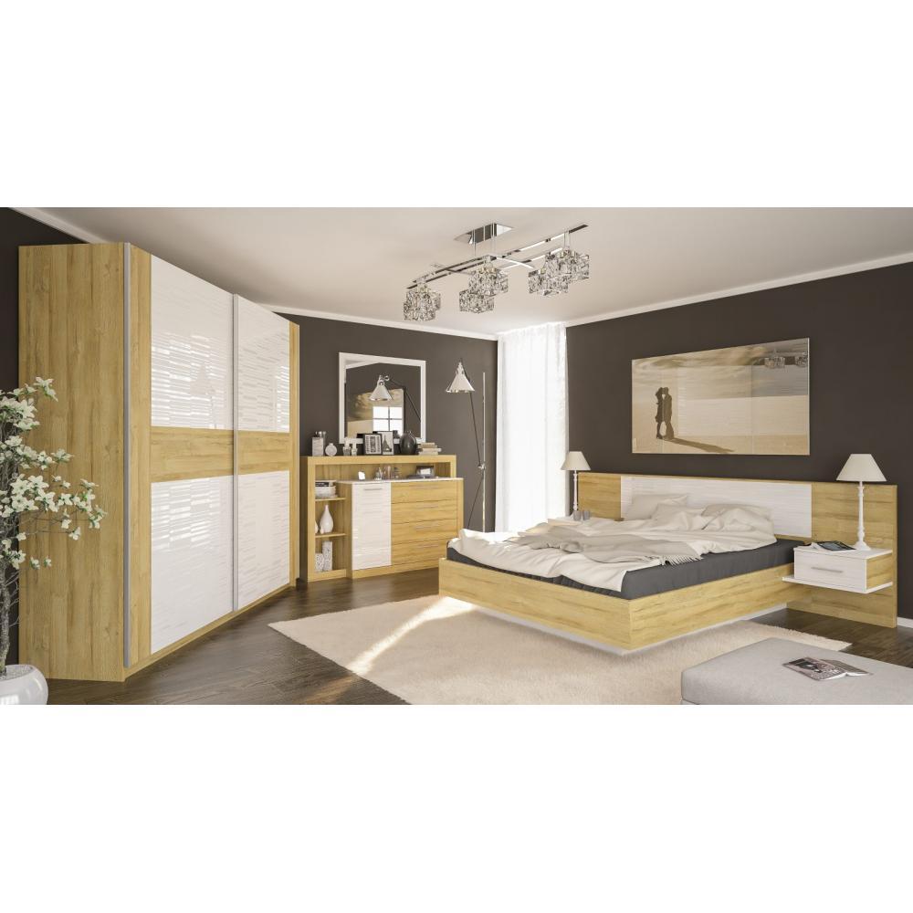 Модульная спальня Фиеста Мебель Сервис (дуб золотой)