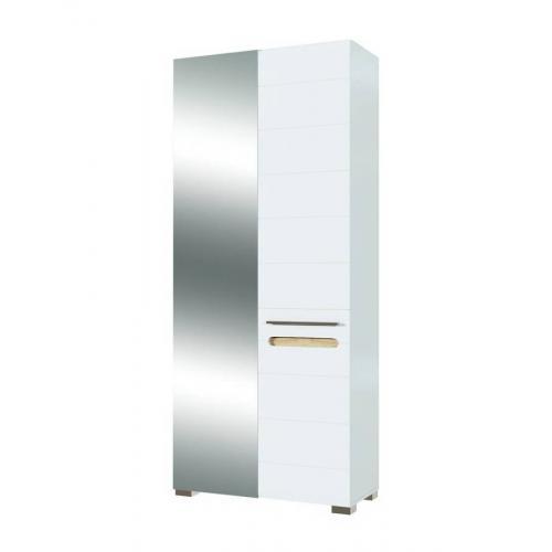 Шкаф для прихожей с зеркалом 2ДЗ Бьянко Мир мебели