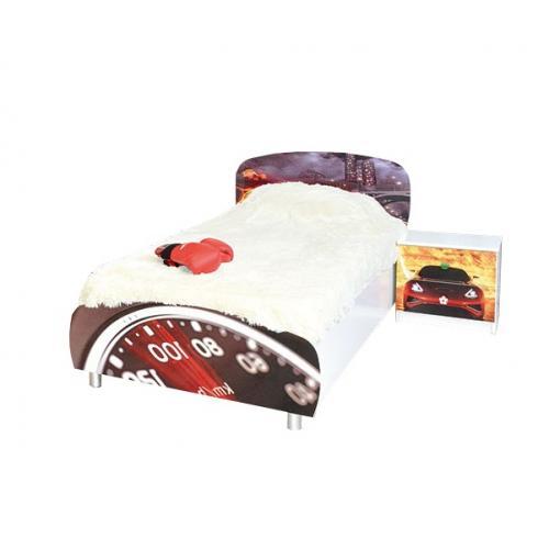 Кровать односпальная Гонки (Мульти) Мир Мебели