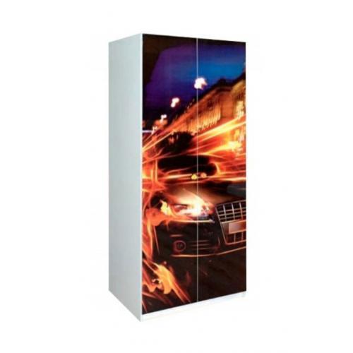 Шкаф 2Д двухдверный Гонки (Мульти) Мир Мебели
