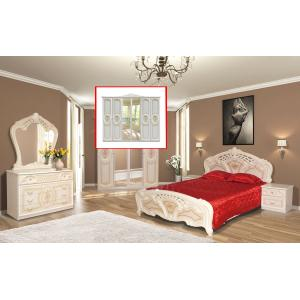 Спальня 6Д Кармен Нова Мир Мебели (пино беж)