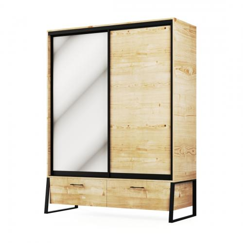 Шкаф 2Д2Ш Лофт Мир Мебели