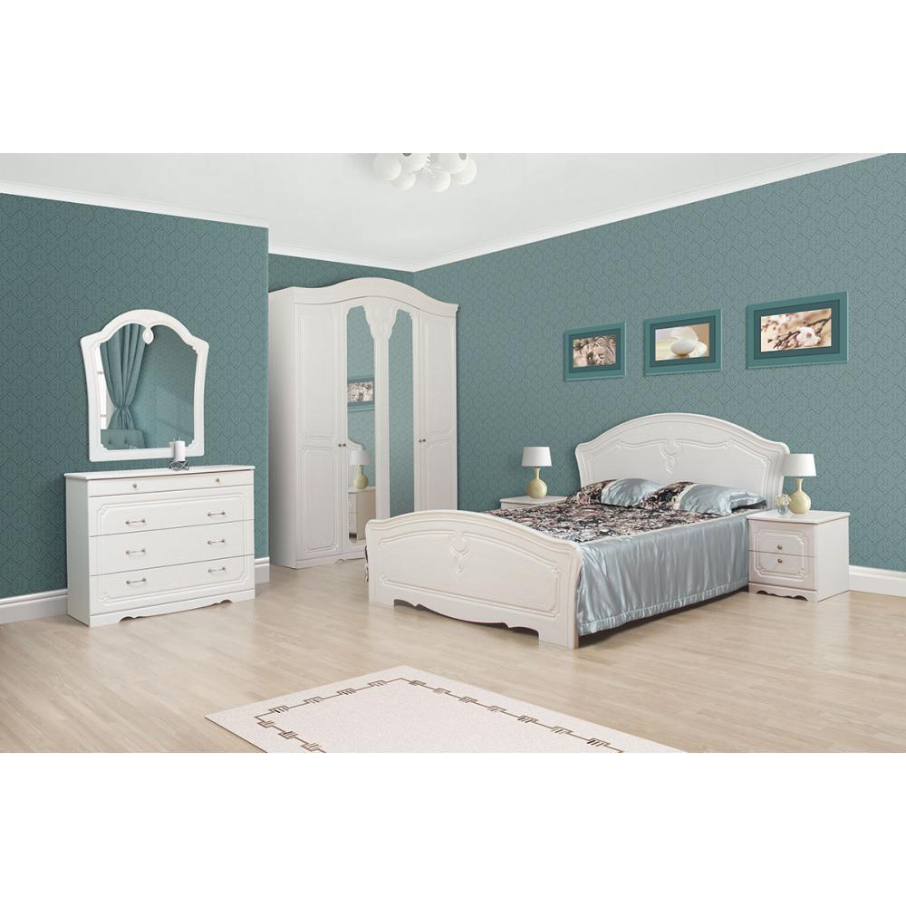 Модульная спальня Луиза Мир мебели (белое золото)