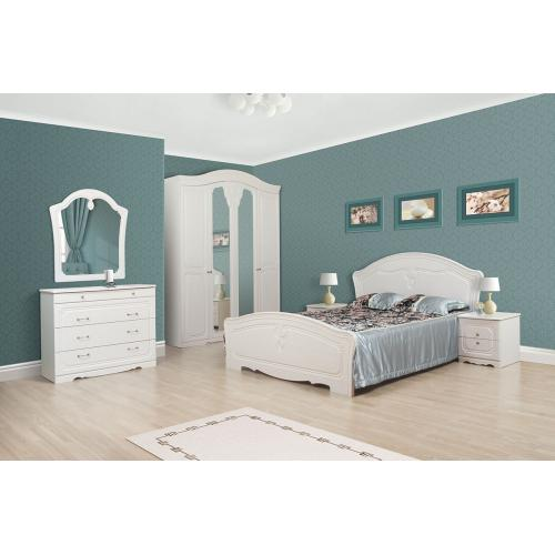 Спальня 4Д Луиза Мир мебели (белое золото)
