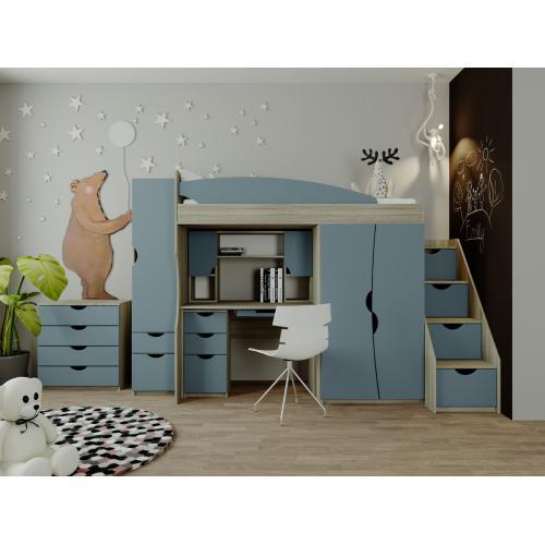 Детская стенка с кроватью и столом Саванна Мир Мебели