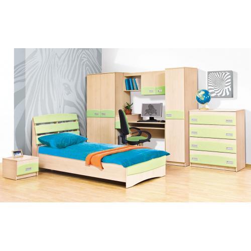 Детская стенка с кроватью, столом и шкафом Терри Мир Мебели