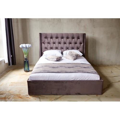Кровать двуспальная с мягким изголовьем и подъемным механизмом 160 Борнео Embawood