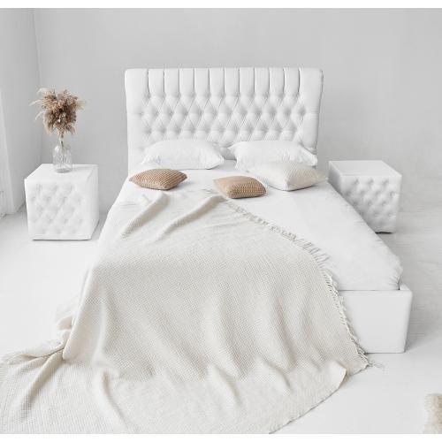 Кровать двуспальная с мягким изголовьем и подъемным механизмом 160 Честер Embawood