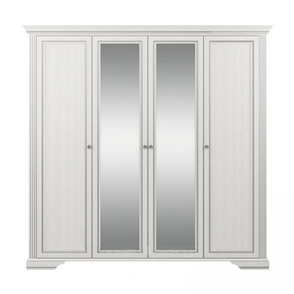 Шкаф 4D(2S) Вайт Гербор (серебро)