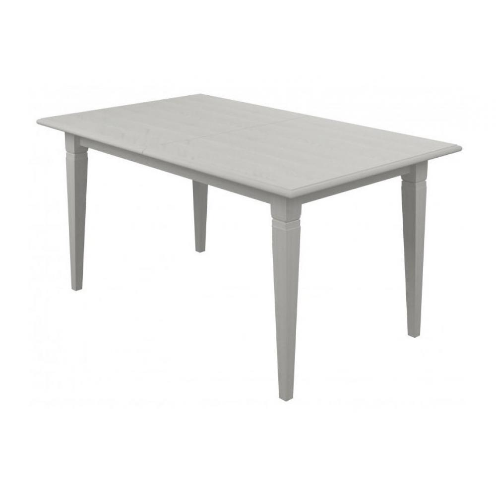 Стол обеденный раскладной 160 Вайт Гербор (серебро)