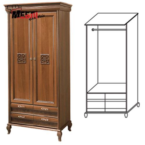 Шкаф 2-х дверный Лаура Нова Скай