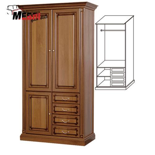 Шкаф 2-х дверный Набукко Скай