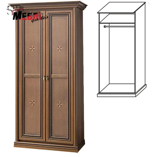 Шкаф 2-х дверн. 1,03х2,01х0,62м Терра Скай