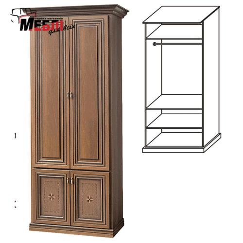 Шкаф 2-х дверн. 1,03х2,29х0,58м Терра Скай